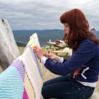 Yarn Bombing the Dome Bench
